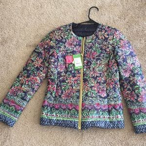 Lilly Pulitzer REVERSIBLE puffer jacket